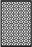"Acurio Lattice Moors Ellipses Outdoor Decor Panel Screen, Black, 48 x 32 x 1/4"""