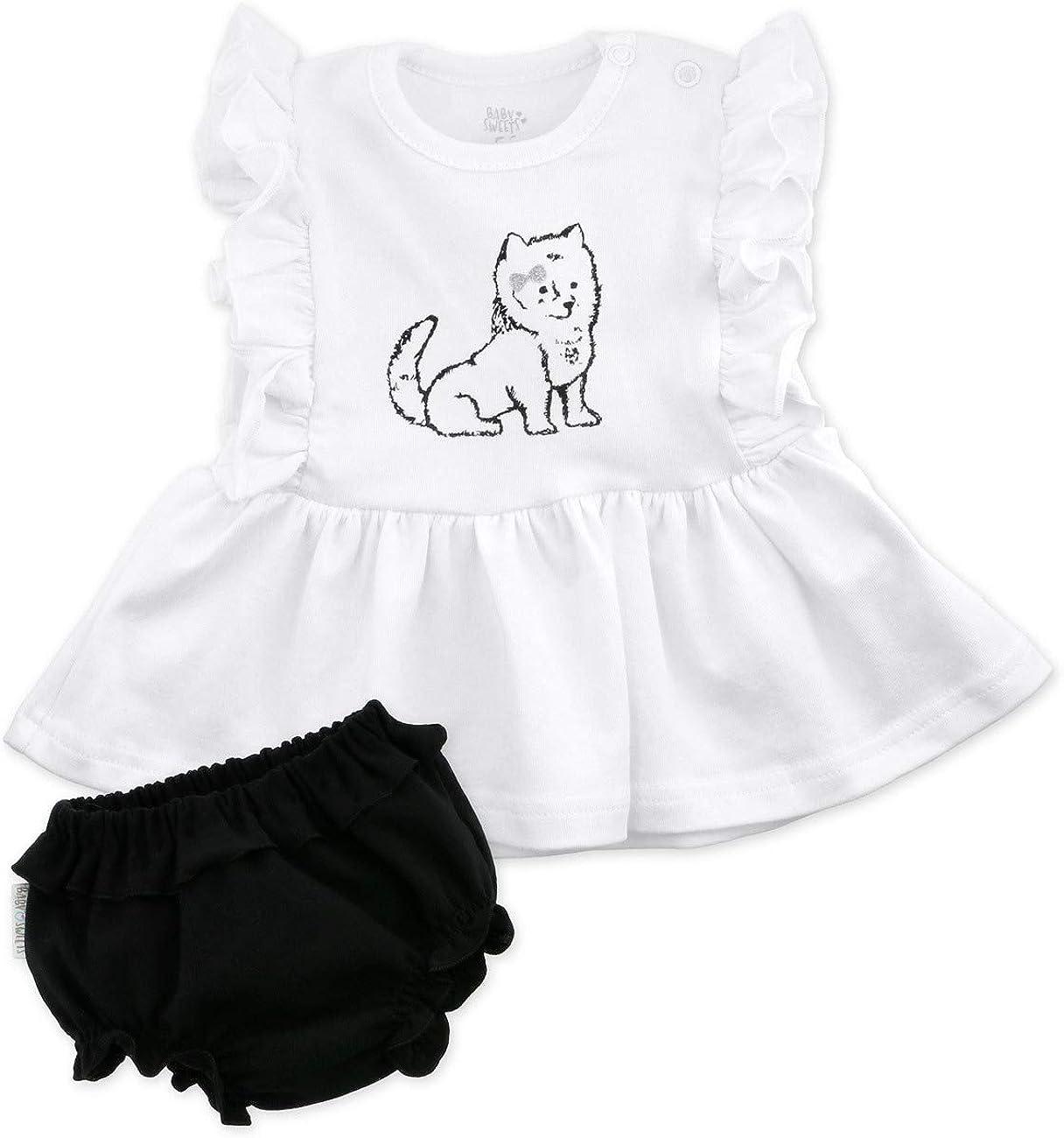 Grau Baby Sweets Baby M/ädchen Kleider in Rosa Blau Wei/ß und Schwarz f/ür Neugeborene und Kleinkinder//Kinder-Kleider und Babykleidung f/ür M/ädchen in verschiedenen Gr/ö/ßen