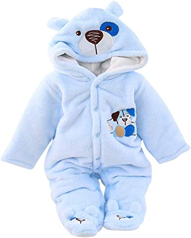 Novelty Toddler Baby Girls Boys Cartoon Bear Thick Warm Overall Trousers Pants