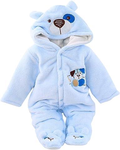 Baby Fleece Overall Neugeborenen Jungen M/ädchen Vlies Strampler Langarm Schlafanzug Einhorn Spielanzug Warmer Body 0-3 Monate