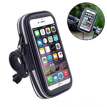 Universal funda resistente al agua bolsa, umiller teléfono móvil Carcasa, Moto teléfono móvil soporte bolsa caso, rotación de 360 grados soporte de ...