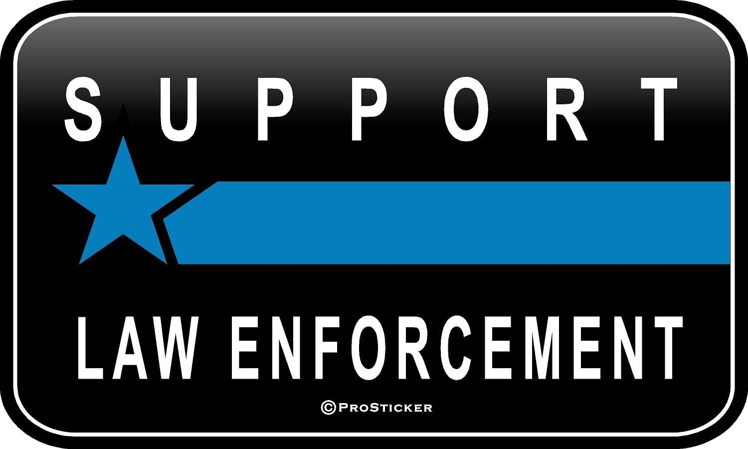 "ProSticker 1083 (One) 3"" X 5"" Patriot Series Support Law Enforcement Thin Blue Line Support Decal Sticker"
