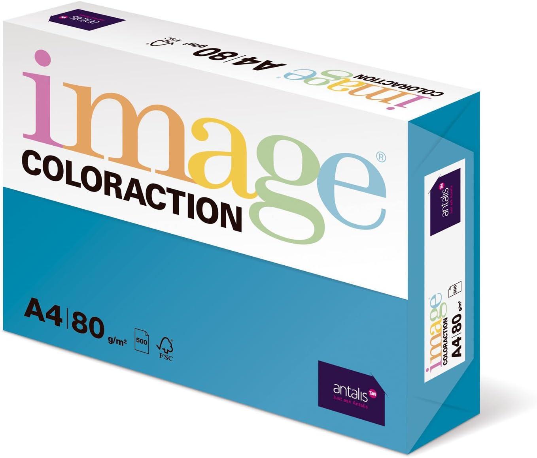 80 g//m2 Carta colorata formato A4 colore: Blu Image Coloraction 500 fogli