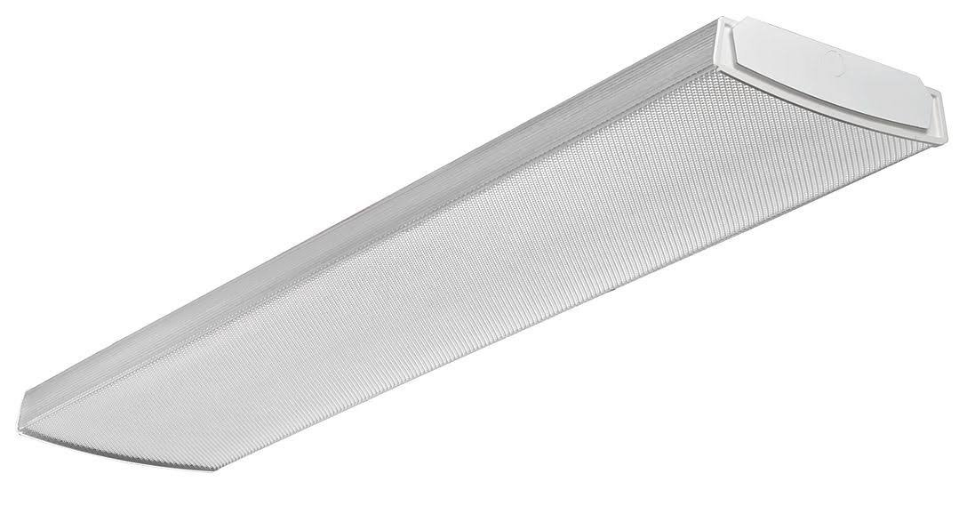 Lithonia Lighting LBL4 LP840 Led Curved Wraparound Ceiling Light, 4', 4000 Lumens, 4000K, White by Lithonia Lighting