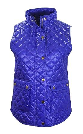f0eb963b3b11 J. Crew Womens Royal Blue Shiny Quilted Field Puffer Vest - Blue ...
