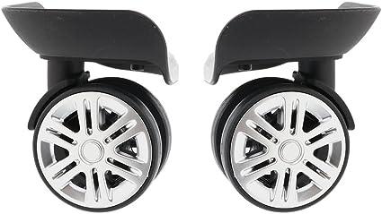 1 Pair Universal Suitcase Replacement Swivel Wheels W041-2 Fsskgx Luggage Wheels