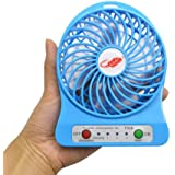 Mini Portable USB Rechargeable Fan 5 inch (Multicolour, Small)