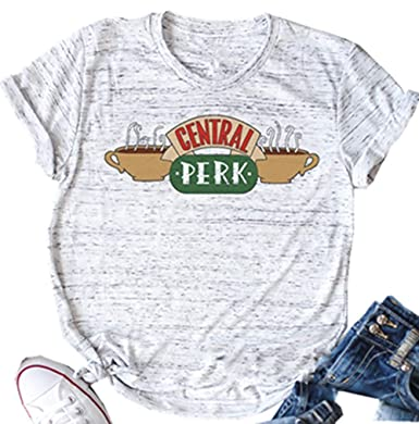 be8dece7f NENDFY Central Perk Friends T Shirt Women's Friends TV Show Graphic Cute  Tees Short Sleeve Casual