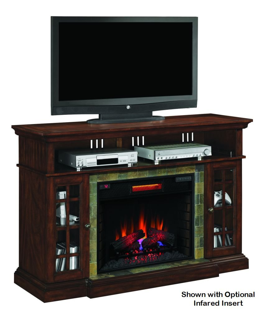 amazon com lakeland cherry infrared tv stand electric fireplace