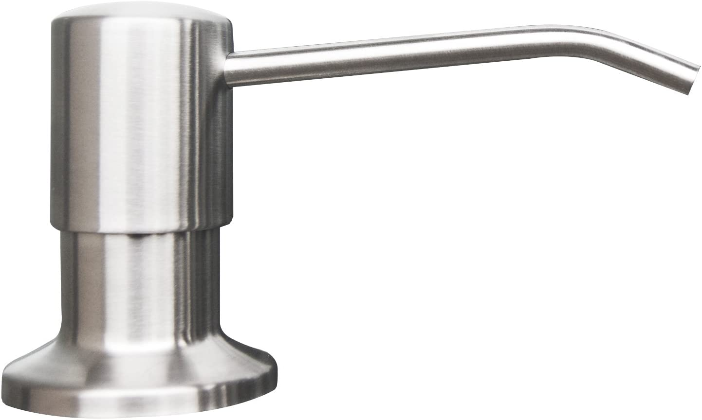 Korlon Stainless Steel Built in Pump Kitchen Sink Dish Soap Dispenser -  Large Capacity 17 OZ Bottle - 3.15 Inch Threaded Tube for Thick Deck ...