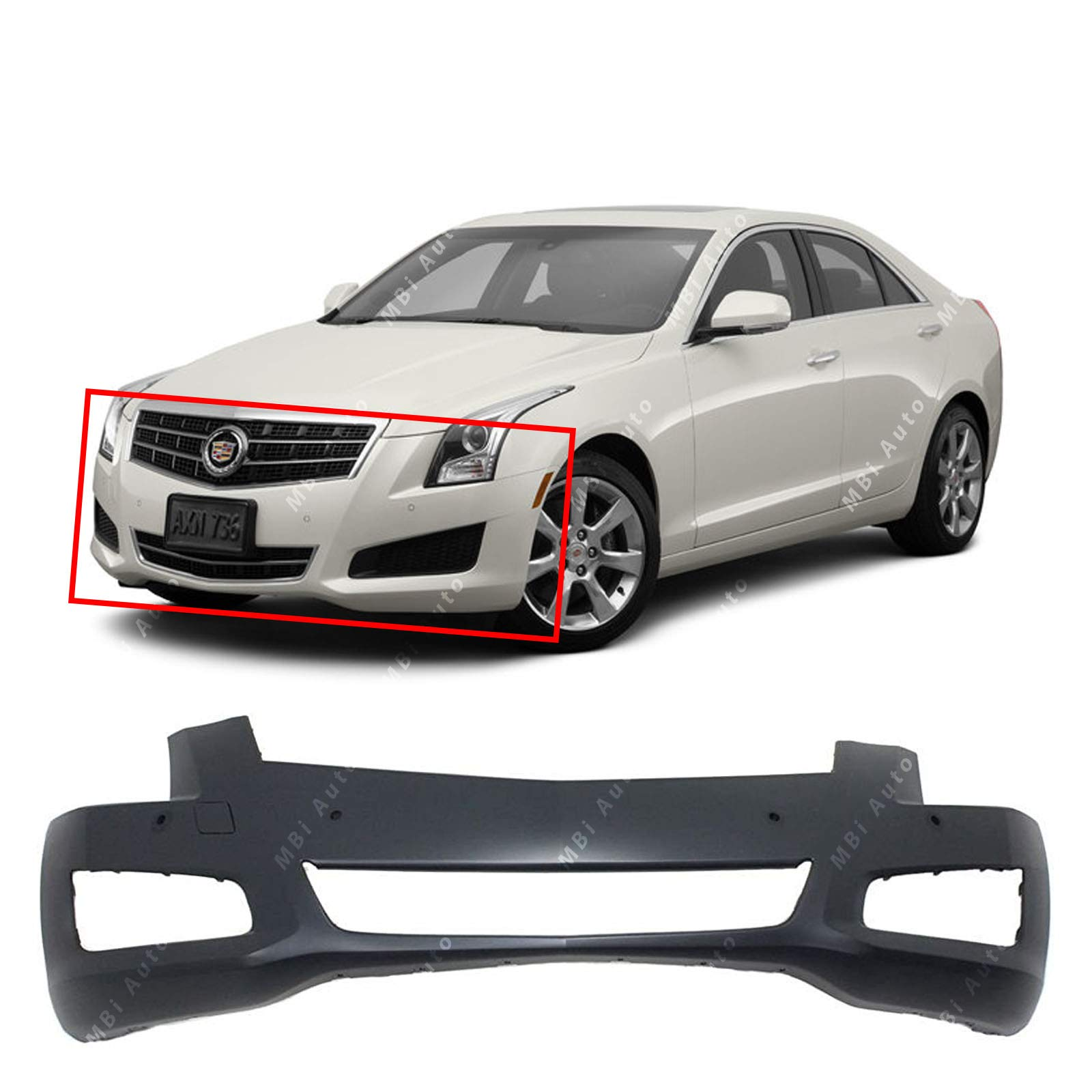 Rear Bumper Cover Replacement for 2007 2008 Nissan Maxima 07 08 NEW Primered