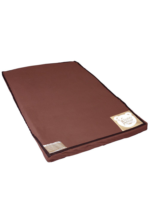 Tumbl Trak Mama Bear Mat, Dark Brown Soft Blanket Material Cover with Velcro, 4-Feet Width x 6-Feet Length x 3-Inch Height