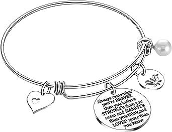 Nimteve Motivational Gifts Inspirational Bracelets Jewelry for Teen Girls Encouragement Gifts for Women