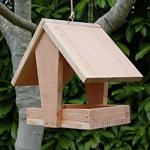 mangeoire grand plateau couverte mangeoire oiseaux en. Black Bedroom Furniture Sets. Home Design Ideas