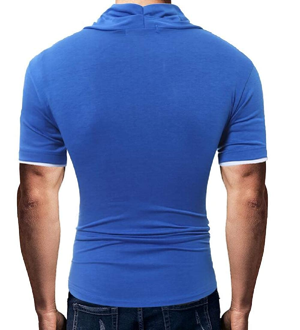 Sweatwater Mens Casual V-Neck Short Sleeve Pullover Summer Button Tops T-Shirt