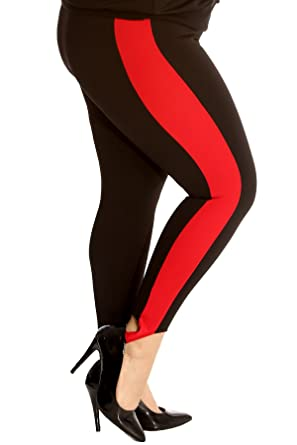 346a1e6f42b New Womens Pants Plus Size Ladies Side Stripe Trousers SKI Style Ankle  Support Full Length Nouvelle Collection  Amazon.co.uk  Clothing