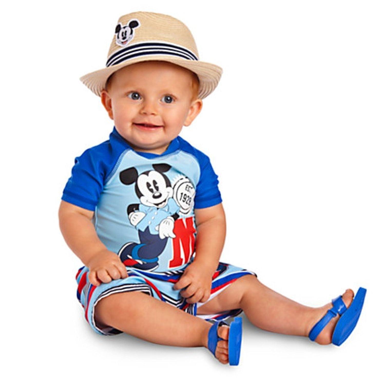 Amazon Disney Mickey Mouse Baby Boy Rash Guard Toddle Swimsuit