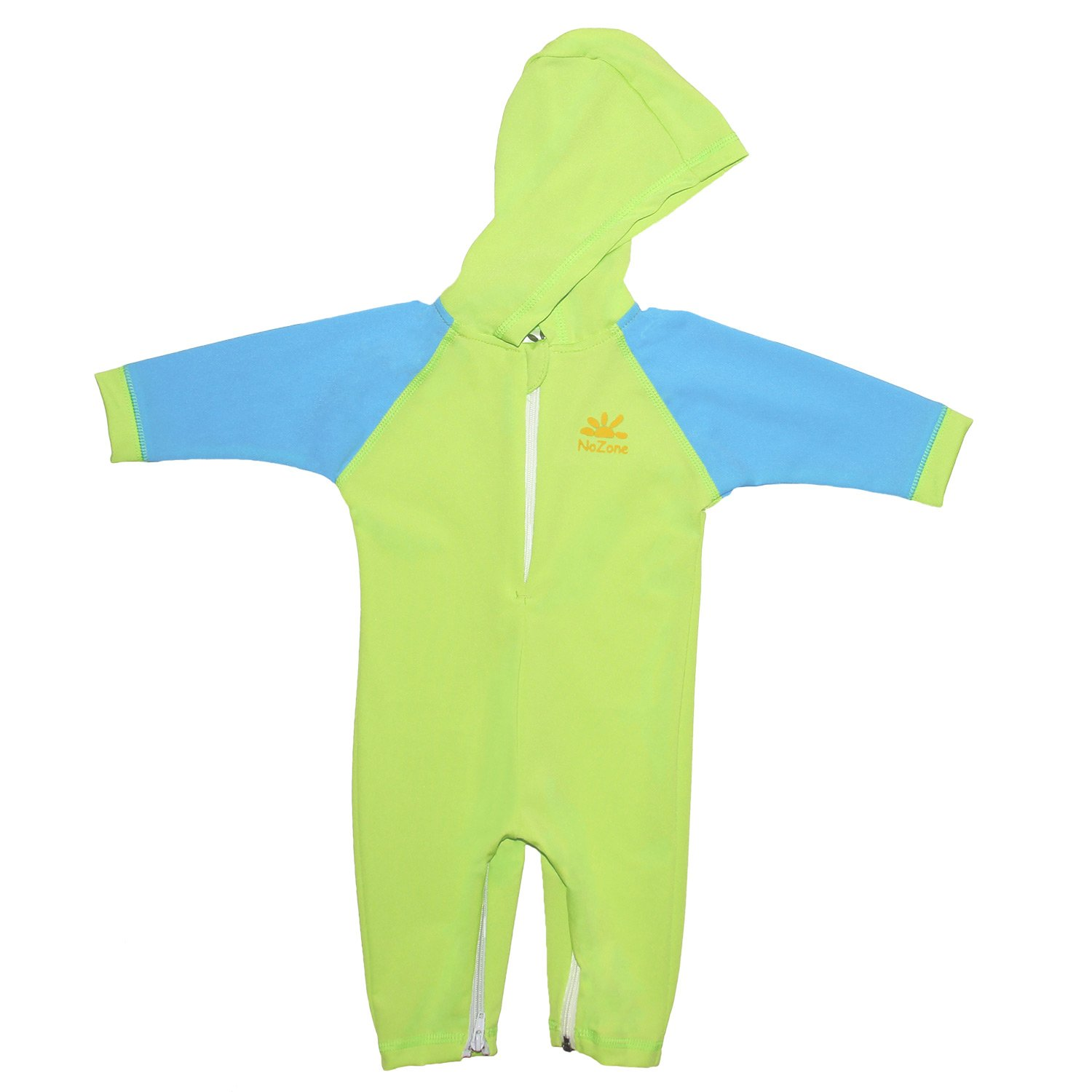 Nozone Kailua Hooded Baby Sun Protective Swimsuit in Lime/Aqua, 24-36 Months 2030lmaa24-36
