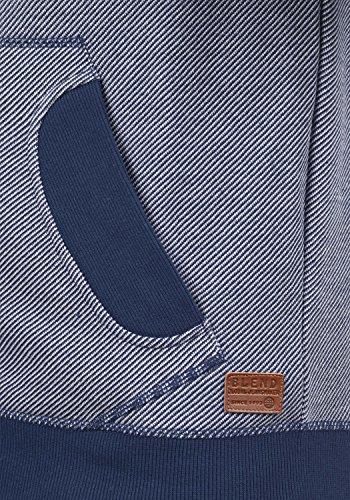 BLEND Stuart - Felpa Con Zip da Uomo, taglia:S;colore:Navy (70230)