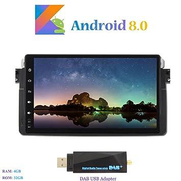 Android 8.0 Autoradio, Hi-azul 8-Core 64Bit RAM 4G ROM 32G Radio