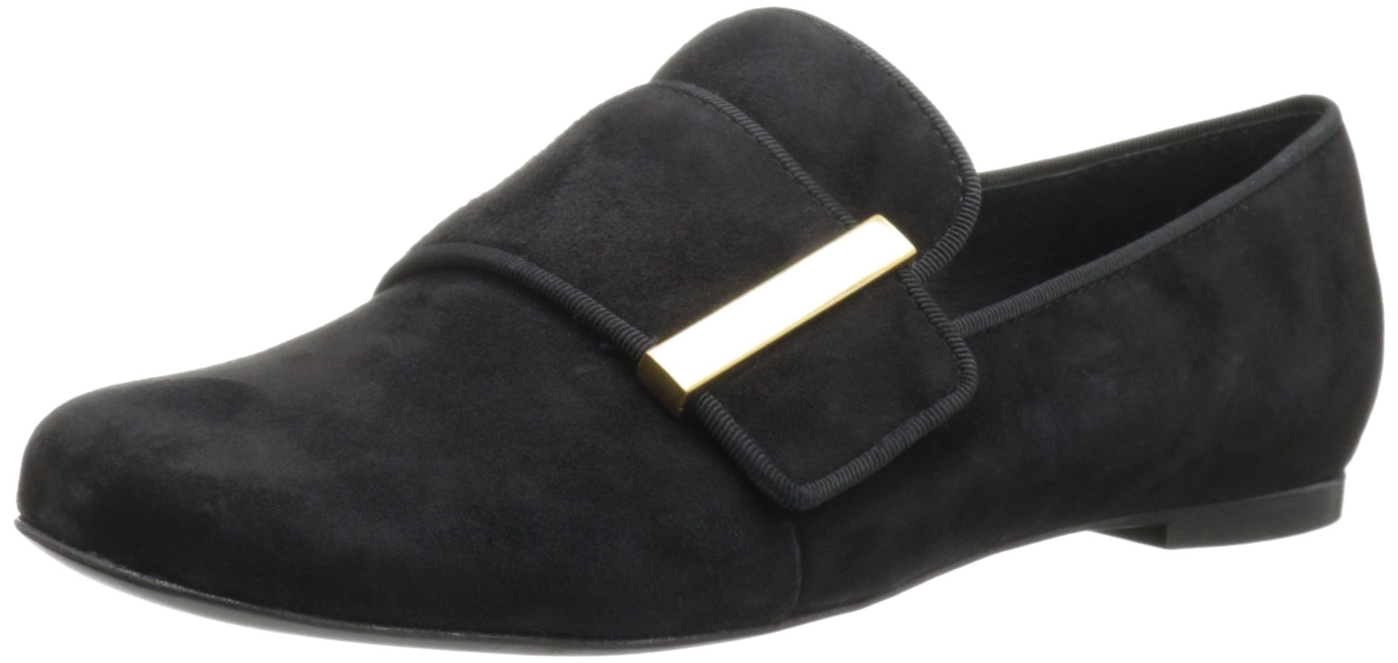 See By Chloe Women's Top Strap Flat Loafer,Black,38 BR/8 M US