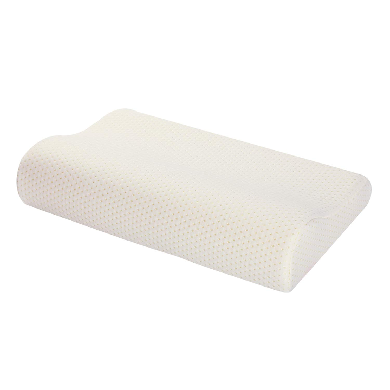 "Ureverbasic Contour Pillow Case Created for Memory Foam Neck Pillow 100% Soft Rayon w/Hided Zipper Closure Machine Washable Contour Pillow Cover 16""x24"" Queen"