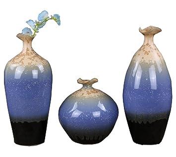 MZ Eigenschaften Blau Und Weiß Porzellan Wohnzimmer Dekoration  Blumenarrangement Ofen Vase Moderne Blumenarrangement,1