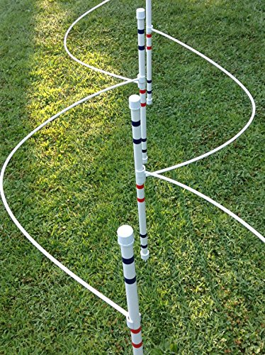 Dog Agility Equipment | Weave Pole Guide Wires for use with 12 poles (not included) (Wires Weave Pole)