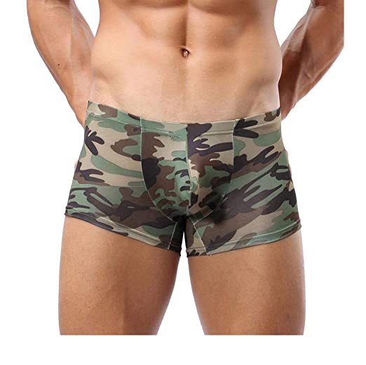 9dcaa565535b6 Military Men's Camouflage Boxer Briefs Trunks Underwear Underpant (M,  Camouflage)