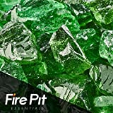 Emerald Green Crushed Fire Glass 1/2″-3/4″ Firepit Glass 10 Pounds For Sale