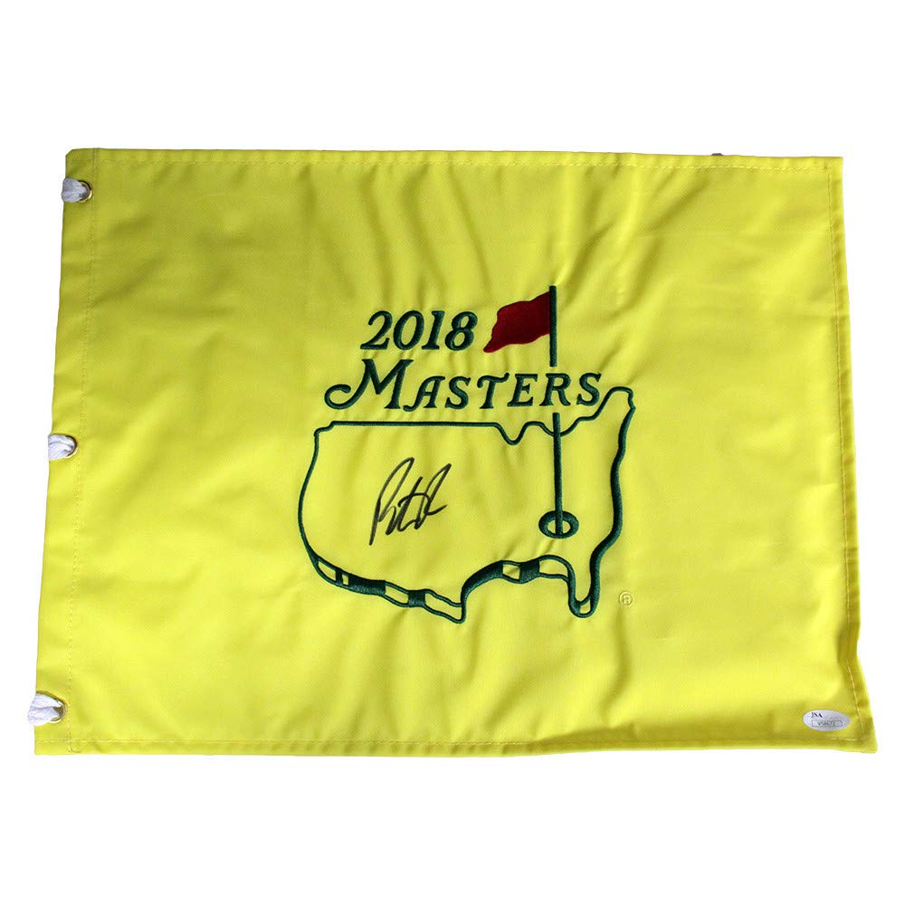 Patrick Reed Autographed Signed 2018 Masters Pin Flag - JSA Certified Authentic