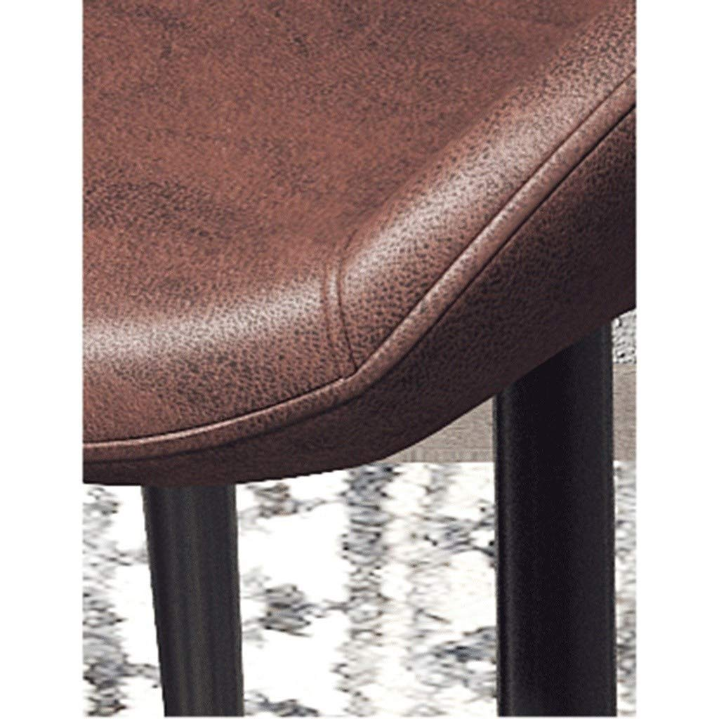 HEJINXL matstol hem modern matbord stol järn konst halkfria fötter läder ryggstöd hotell kafé hörnstol (färg: E) D