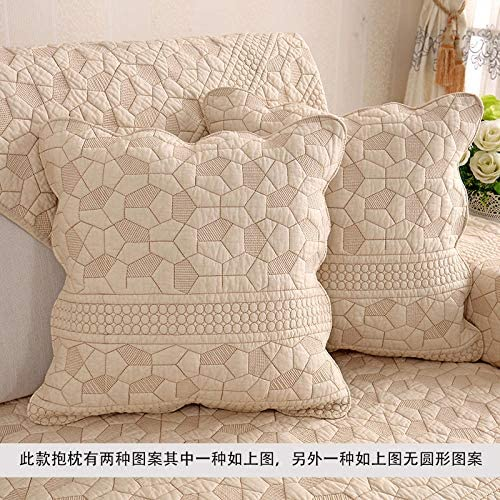 Happiness Square Sofa Square Pillow Case Office Lunch Break Solid Color Pillow Waist Pillow@Fresh plaid_45*45cm pillow with core