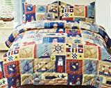 Mainstays Home From The Sea Bedding Quilt KING (Quilt Only)