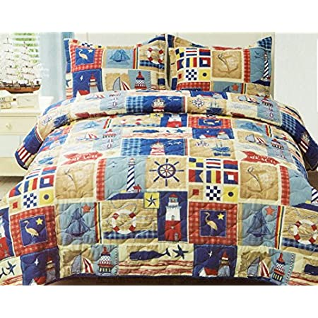 61Y%2BZnQP7%2BL._SS450_ 100+ Nautical Quilts and Beach Quilts