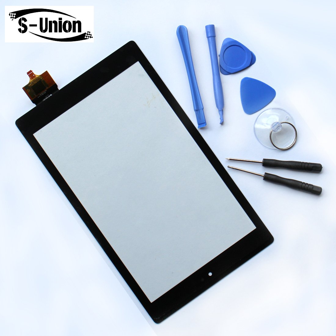 S-Union Touch Panel Digitizer Glass Lens Screen Replacement for Amazon Kindle Fire HD8 6th PR53DC