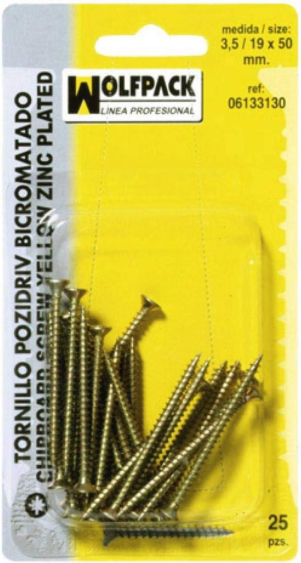 Wolfpack 6133150/ /Pack of 35/tirafondos Pozidriv bicromatados 4//20/x 16/mm