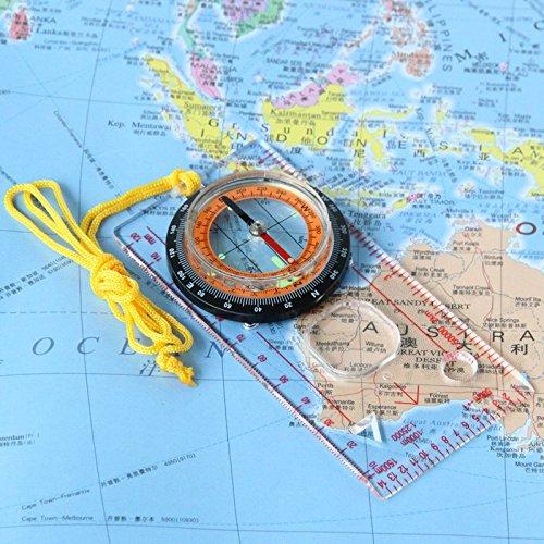 Outdoor multi-purpose orienteering compass/compass/fluorescent/gauge/compass