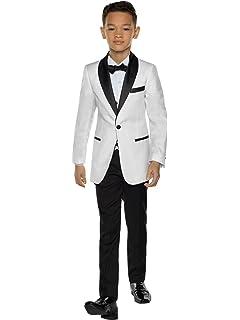 9e8d34799 Amazon.com  Lito Baby Boys Ivory Black Jacket Pants Shirt Bowtie 4 ...