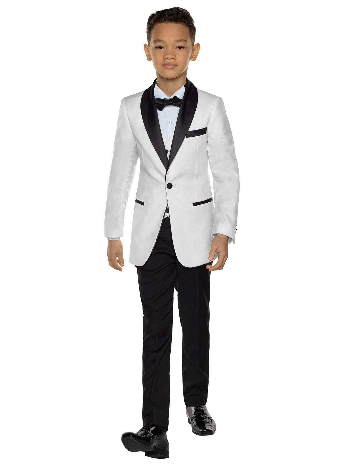 Paisley of London, Porter Ivory Slim Fit Tuxedo, Boys Formal Occasion Wear Set, 5