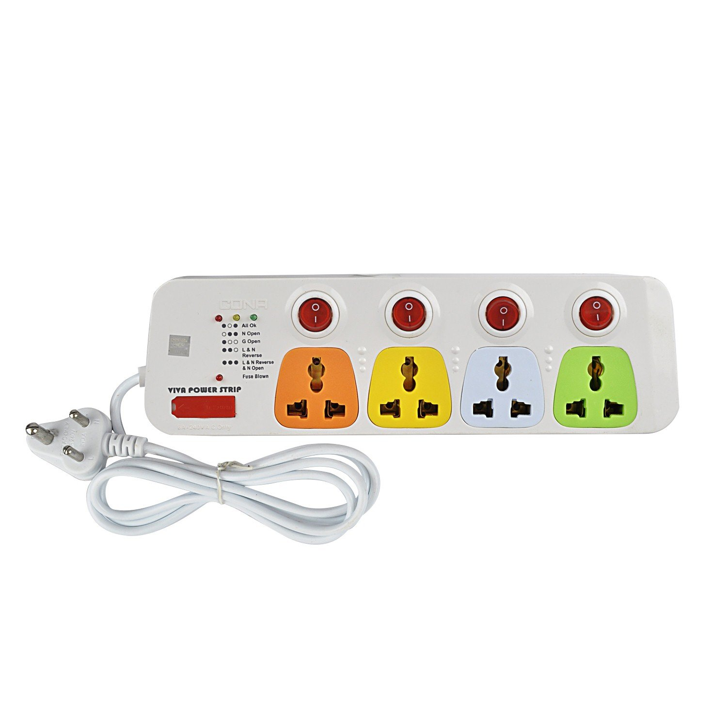 Buy Cona Smyle Viva 4 Power Strip 5 Meter Wire Online At Low House Wiring Questions Prices In India