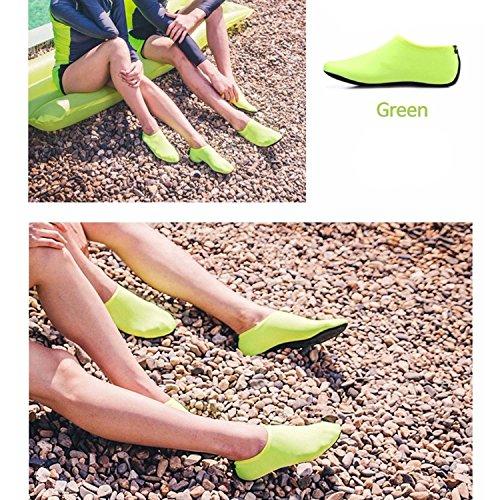 sock Quick Surfing Shoes Aqua Yoga Lightweight Men's Socks Green Sports Beach Dry WAWEN Women's Water Barefoot Pool Kid's XYpwWXzT4