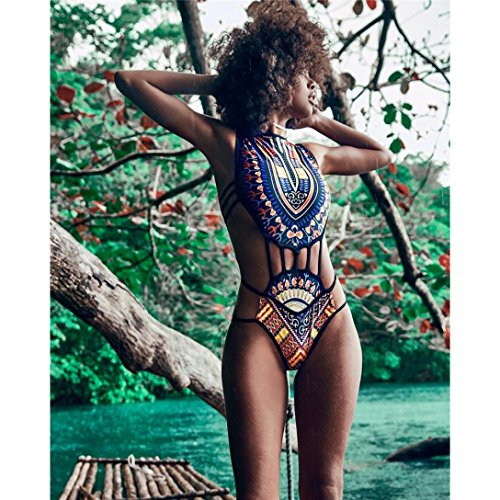 Costume Reggiseno sulle braccia Nero Donne da Costumi Bikini da beachwear set Rawdah Flessione Impostato bagno Stampare bagno africano Imbottito wzvHqw7O