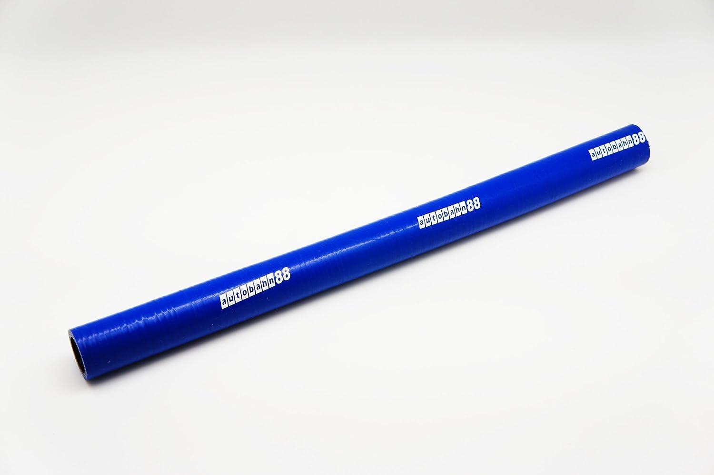 autobahn88 Manguera de silicona automotriz universal, acoplador recto, ID 0,31'(8mm), longitud de 3 pies (1 metro), grueso de pared 0,16' (4mm), 3-Ply, azul 31(8mm) 16 (4mm)