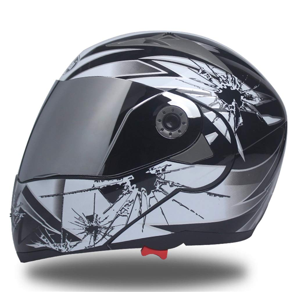 Qianliuk Full Face Helm Safe Flip Up Motorrad Motorcross Motorrad Helm Racing Motocross Mit Innen Sonnenblende Ali090404