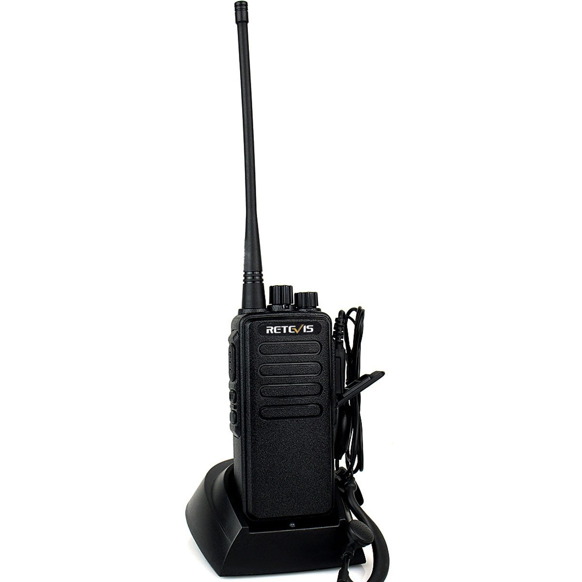 Retevis RT1 10W UHF Two Way Radio 70CM 400-520 MHz 16CH VOX Scrambler Ham radio and Speaker Mic (5 Pack) by Retevis (Image #2)