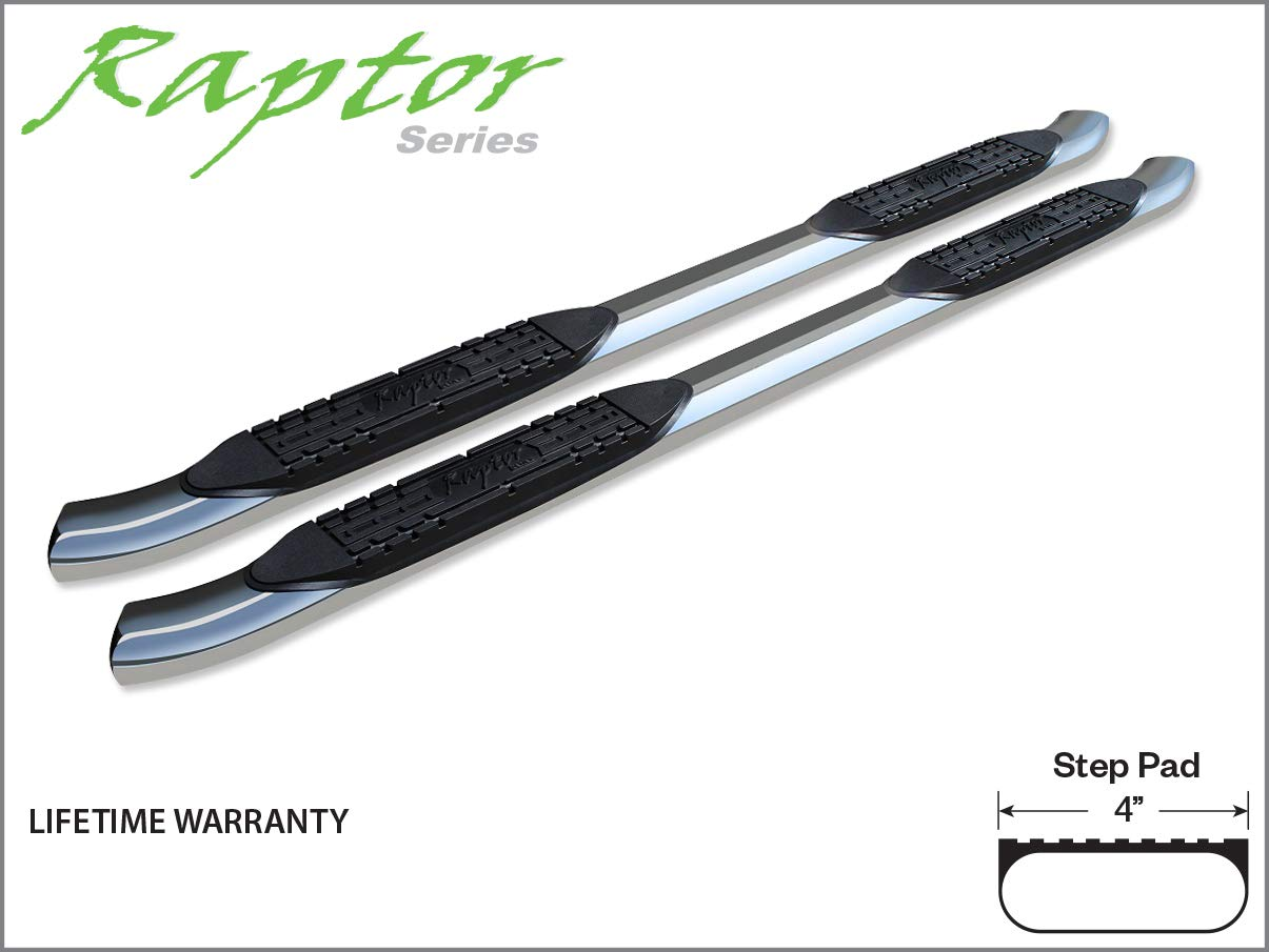 Raptor Series 1507-0431 Nissan Frontier Extended Cab//King Cab 4 OE Style Curved SS Oval Steps 05-17