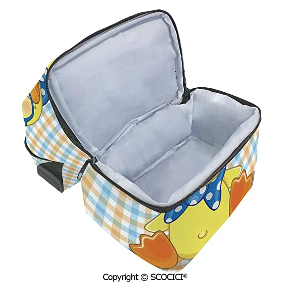 1511ef9cd7c1 Amazon.com : SCOCICI Collapsible Cooler Bag Hipster Boho Baby Duck ...