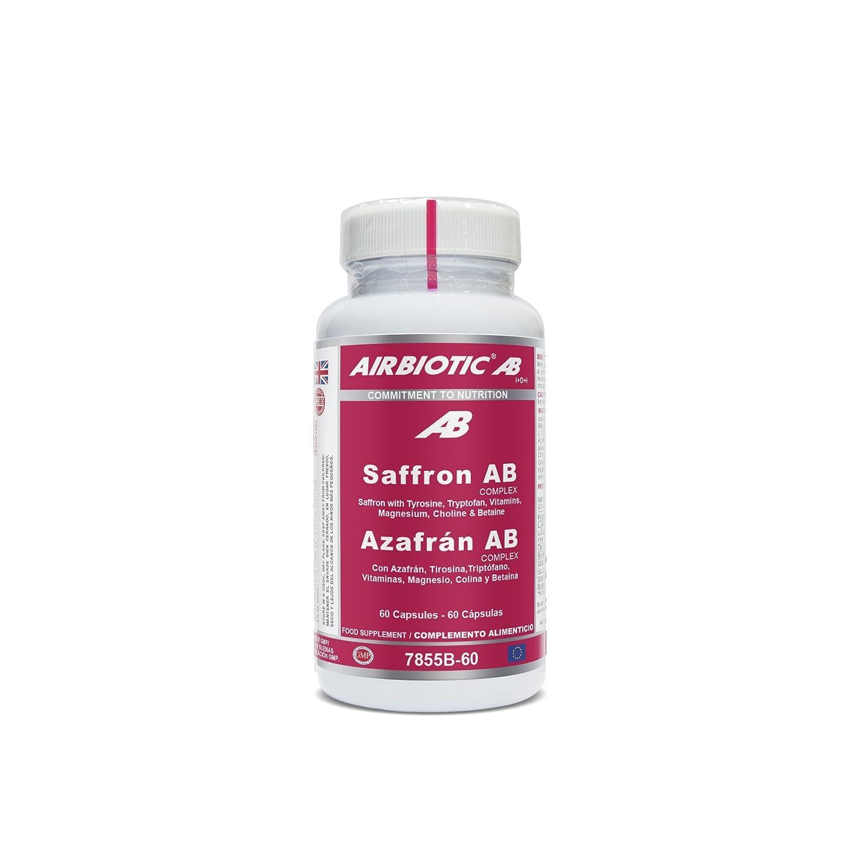Airbiotic AB - Azafrán AB Complex - Hierbas, Suplementos para Ansiedad y Estado de Ánimo - 60 cápsulas: Amazon.es: Salud y cuidado personal