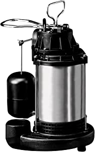 Wayne EE980 Energy Efficient 3/4 HP Submersible Stainless Steel/Cast Iron Sump Pump